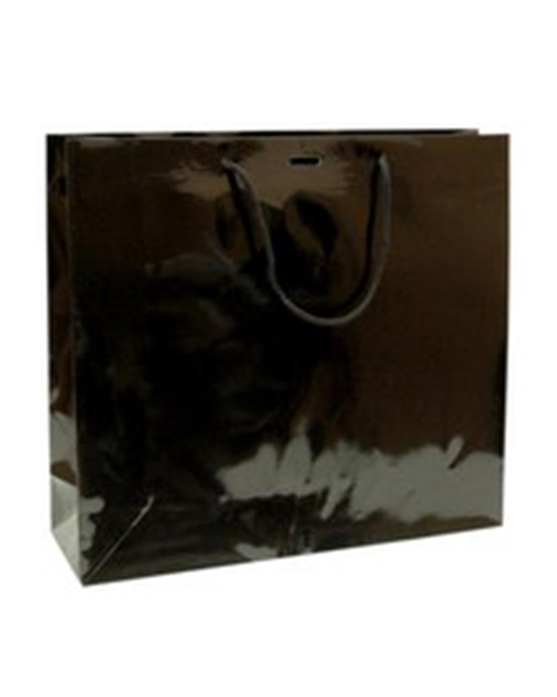 Saco Asa Cordão Preto com Corte para Fita - Preto - 40+12x36 - SC1136
