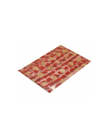 Saco c/ Pala Polipropileno Vermelho/Dourado 35x50cm - Vermelho/Dourado - 35x50cm - SC2412