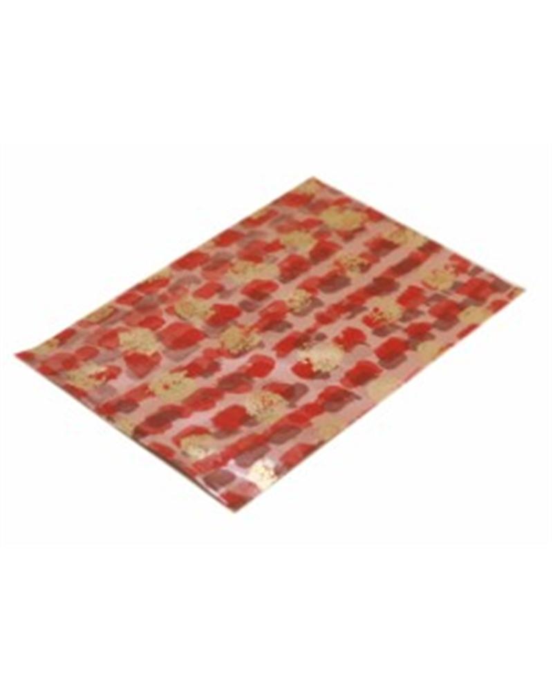 Saco c/ Pala Polipropileno Vermelho/Dourado 15x25cm (1000) - Vermelho/Dourado - 15x25cm - SC2410