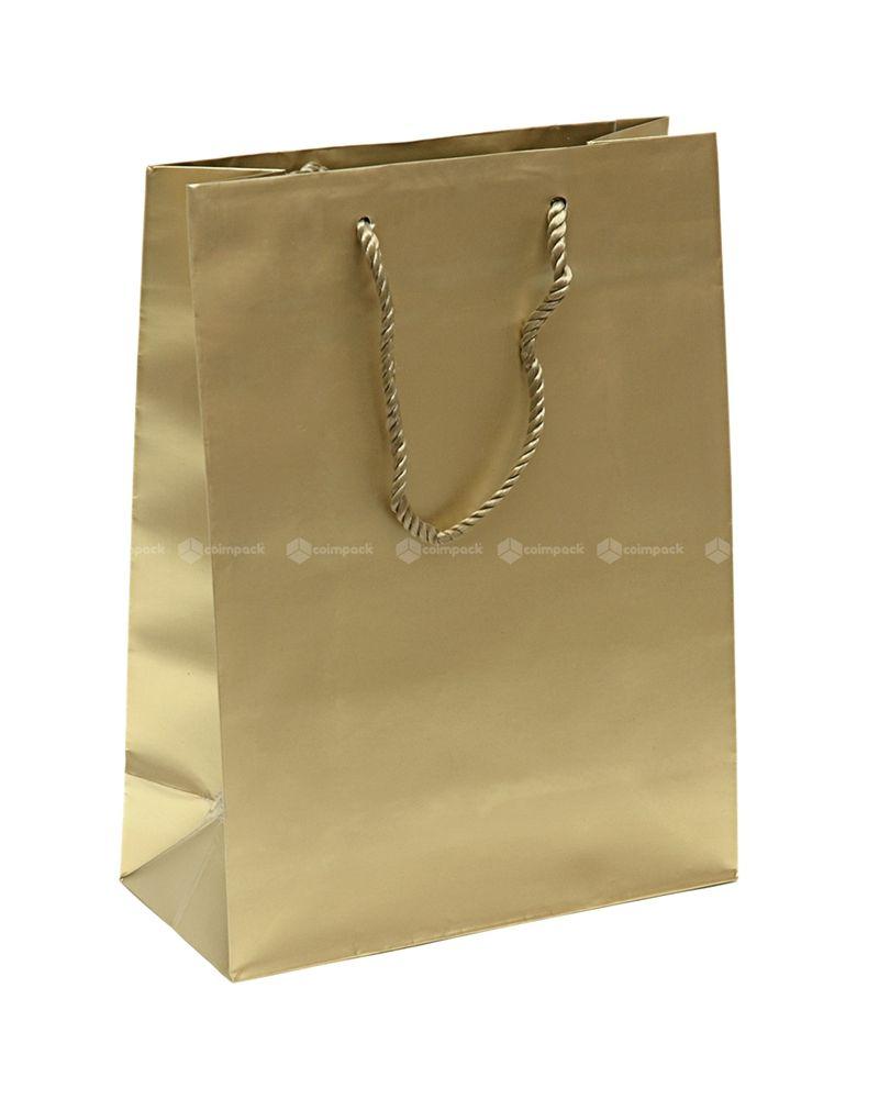 Saco Asa Cordão Shopping Dourado - Dourado - 22+10x29 - SC3057