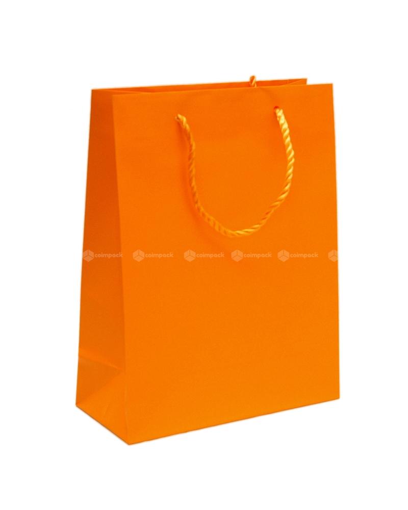 Saco Asa Cordão Shopping Laranja - Laranja - 22+10x29 - SC3062