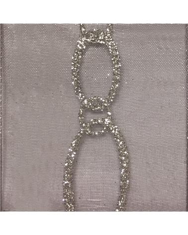 """Rolo Fita Organza """"Bijoux"""" Cinza 25mmx15mts - Cinza - 25mmx15mts - FT4890"""
