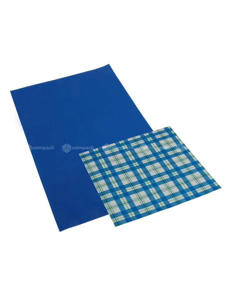 Saco com Pala Polipropileno Provence Double Azul - Azul - 16x25 - SC3070