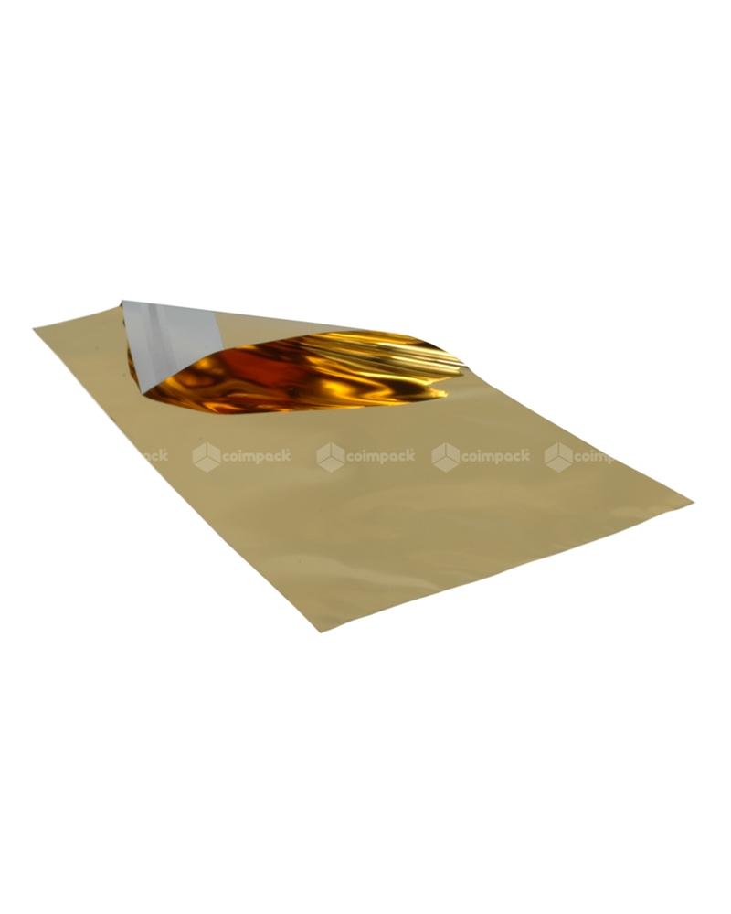 Saco c/Pala Autocolante Metalizado Fundo Dourado - Dourado - 20x35+5cm - SC3107