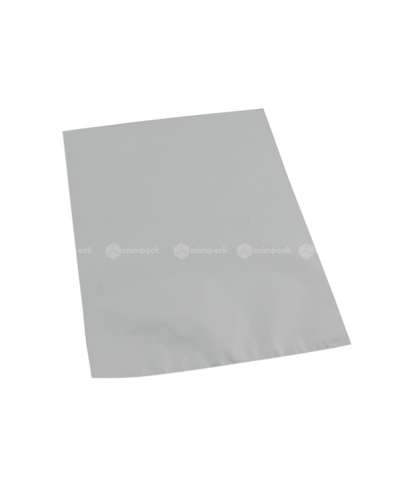 Saco c/ Pala Metalizado Mate Fundo Prateado - Prateado - 16x25 - SC3132