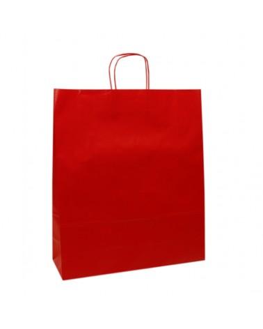 Saco Asa Retorcida Branco Liso Fundo Vermelho - Vermelho - 45+14x48 - SC3158