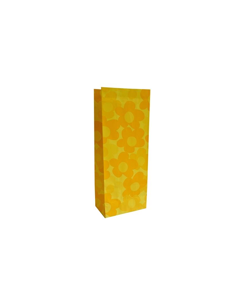 Sacos s/ Pala Amarelo c/ Flores 10x6x25 - Amarelo - 10x6x25cm - SC2523