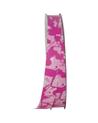 FT5001 | Rolo Fita Seda Fantasia Pollock Rosa 19mmx100mts