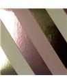Rolo Fita Metalizada Riscas Diagonais Dourado/Rosa 19mmx100m - Dourado/Rosa - 19mmx100mts - FT5011