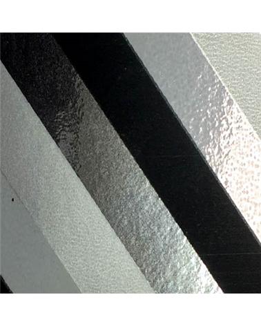 Rolo Fita Metalizada Riscas Diagonais Preto 19mmx100mts - Preto - 19mmx100mts - FT5015