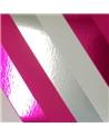 Rolo Fita Metalizada Riscas Diagonais Fuxia 31mmx100mts - Fuxia - 31mmx100mts - FT5008