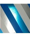 Rolo Fita Metalizada Riscas Diagonais Azul 31mmx100mts - Azul - 31mmx100mts - FT5010