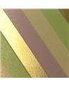 Rolo Fita Seda Riscas Diagonais Dourado/Verde 31mmx100mts - Dourado - 31mmx100mts - FT5020