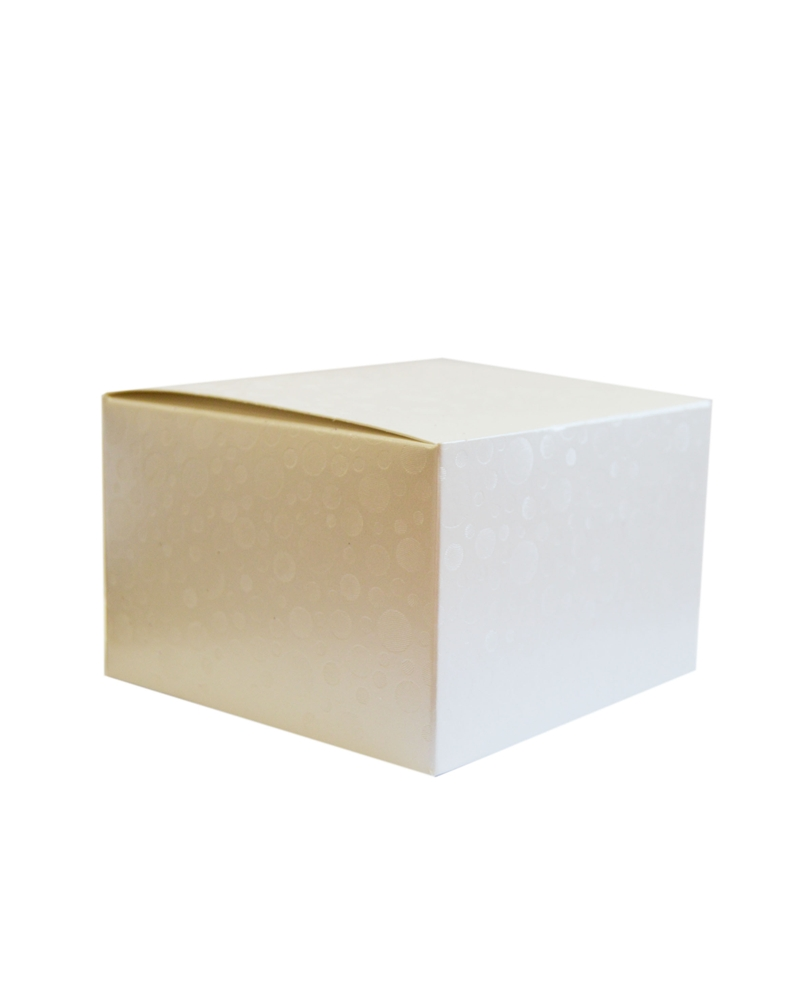 Caixa Sfere Bianco Pieghevole - Branco - 120x120x80mm - CX3575