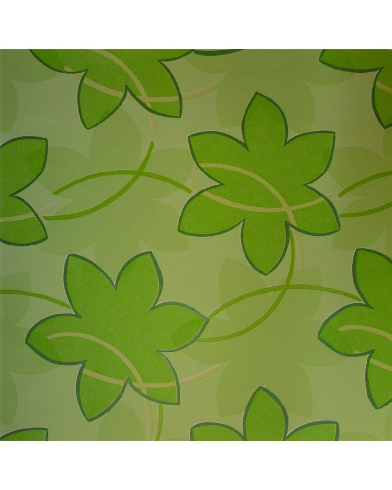 Papel Kraft Verde c/ Folhas 70x100cm - Verde - 70x100cm - PP2246