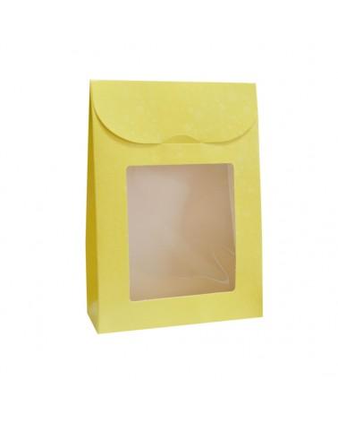 CX3587 | Caixas Flexíveis | Caixa Sfere Giallo Sacchetto c/Janela