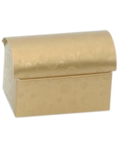 Caixa Sfere Oro Cofanetto 70x45x52 - Dourado - 70x45x52mm - CX3608