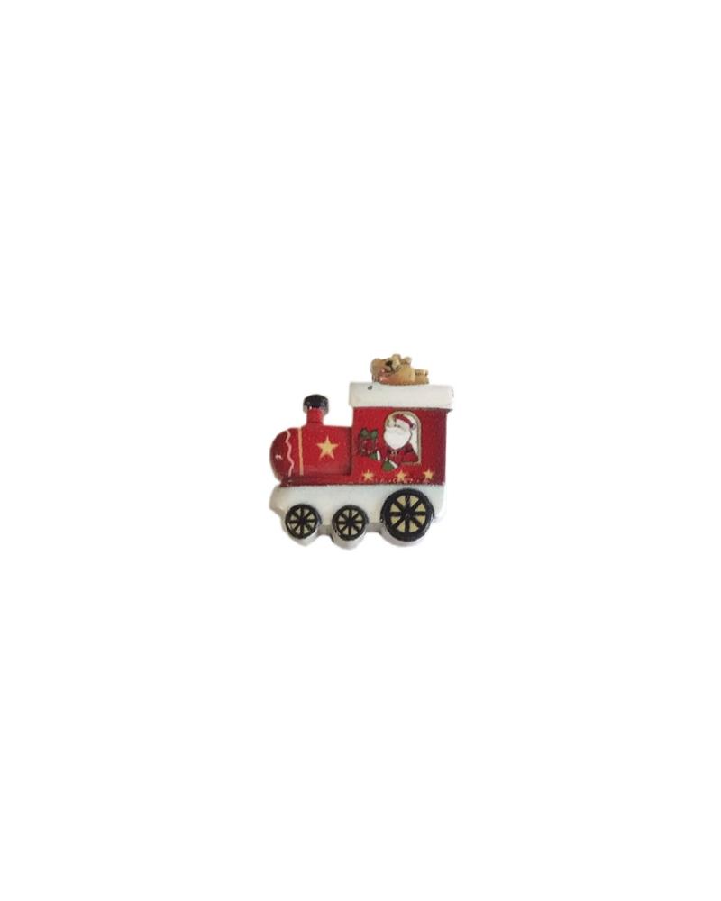 Caixa c/18 Comboios de Natal c/Autocolante - Vermelho - 3cm - DVC0487