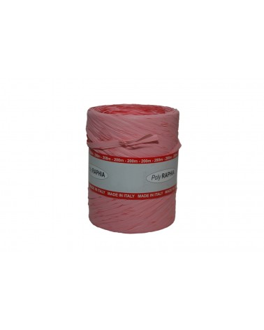 Excl Rolo Fita PolyRafia Pastel Rosa 15mmx200mts - Rosa - 15mmx200mts - FT5092