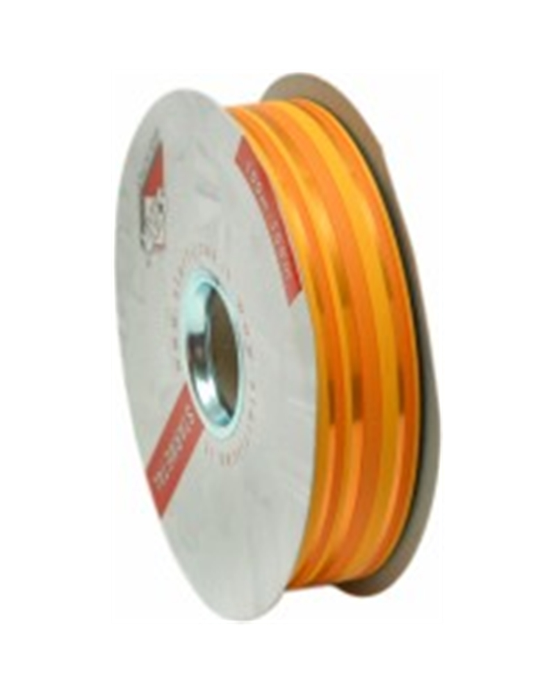 "Fita Metalizada ""Righe"" Laranja com Riscas 31mm 100mts - Laranja - 31mmx100mts - FT3900"