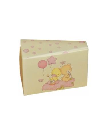 Caixa Fetta Torta Palloncin Rosa para Criança - Rosa - 80x45x50mm - CX2676