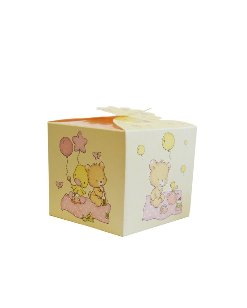 Caixa Cubo Palloncini Rosa p/ Criança - Rosa - 100x100x90mm - CX2675