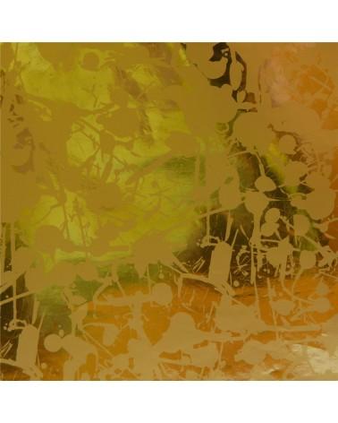 Rolo Papel Reflex Fundo Dourado c/Salpicos Dourados - Dourado - 0.70x100mts - BB2169