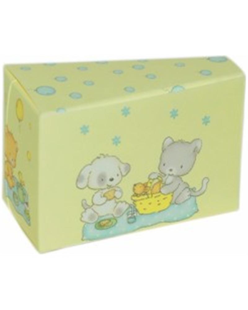 CX2683 | Caixas Flexíveis | Caixa Fetta Torta Palloncin Azul para Criança