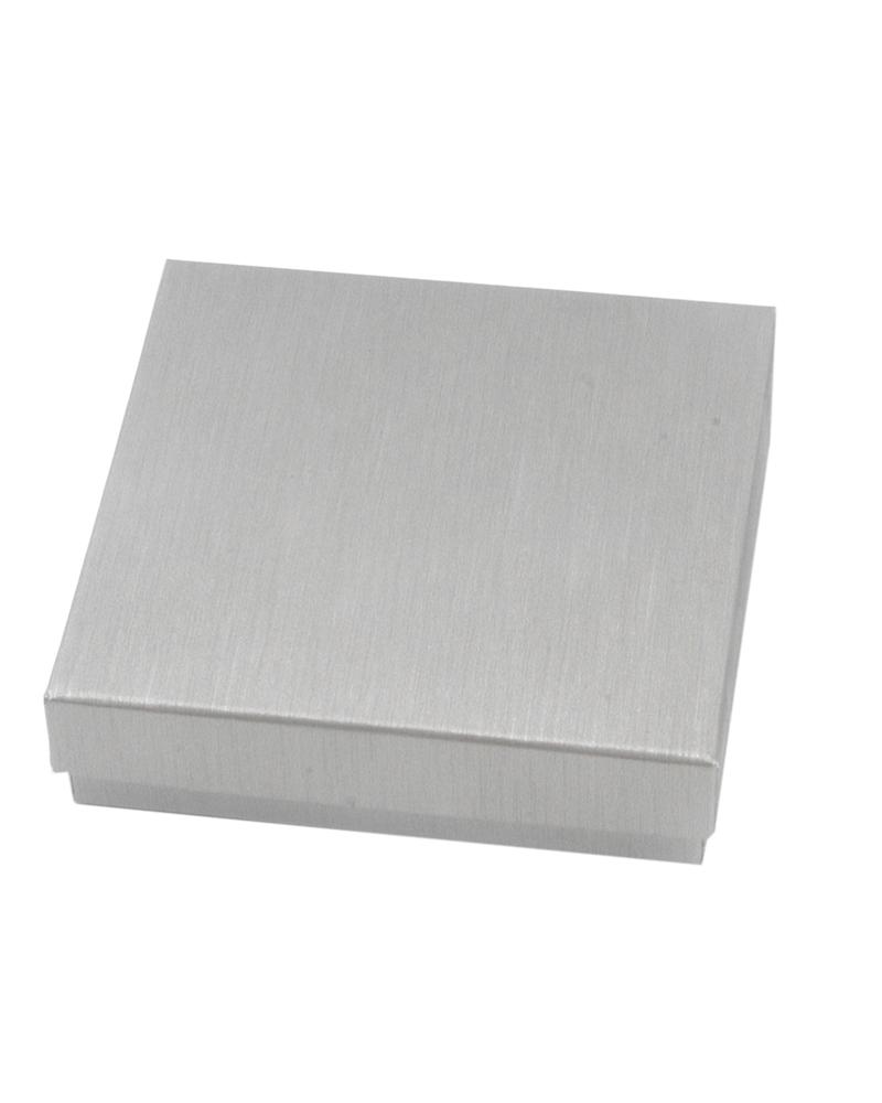 Caixa Linha Hematite p/ Pendentes - Prateado - 6.6x6.6x2.3cm - EO0631