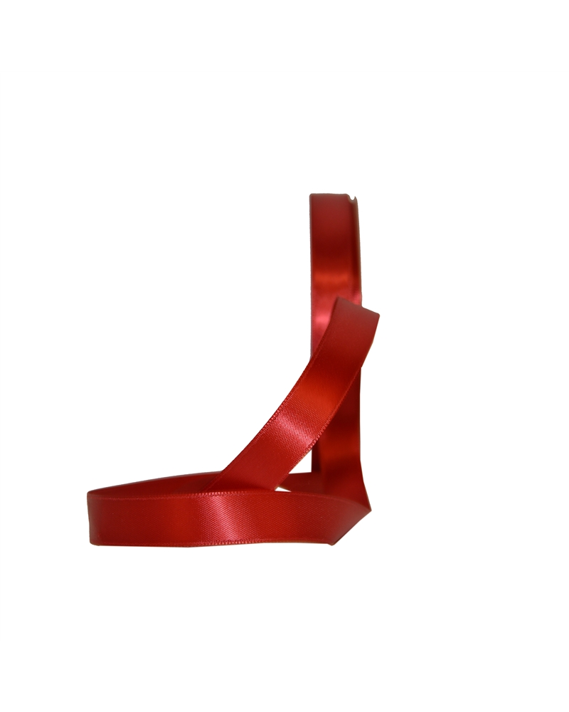 Rolo Fita Cetim Dupla Face Vermelha - Vermelho - 16mmx45mts - FT5133