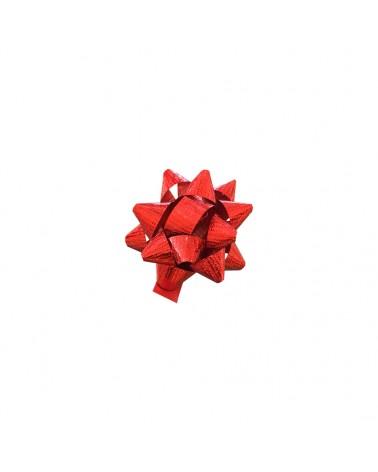 Laço Autoc. Metalizado Gofrado Vermelho 10mm - Vermelho - 10mm - LÇ0658