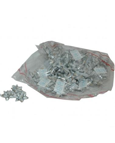 Laço Autoc. Metalizado Branco c/ Arvores 10mm - Branco - 10mm - LÇ0659