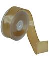 Fita Tafetá Aramada Dourada 38mmx25mts - Dourado - 38mmx25mts - FT5140