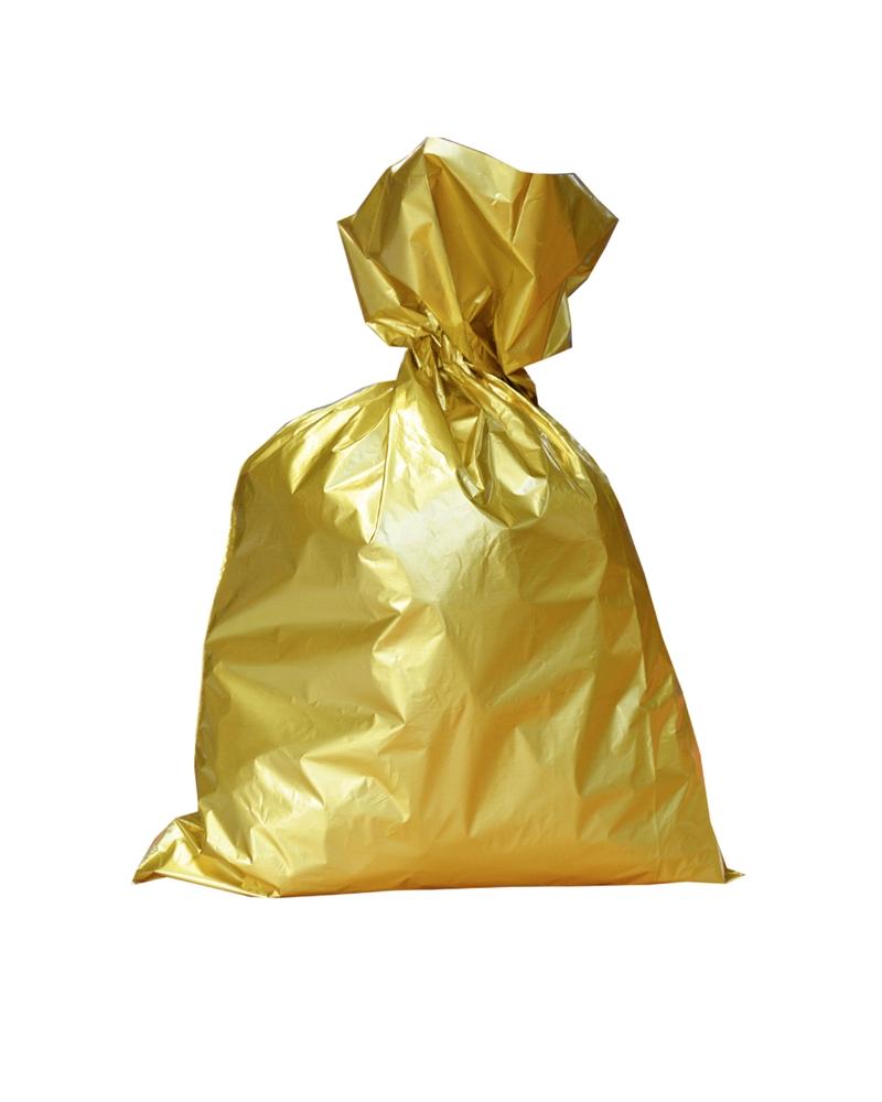 Saco Metalizado Dourado c/Revestimento Interno - Dourado - 25X40cm - ASC0013