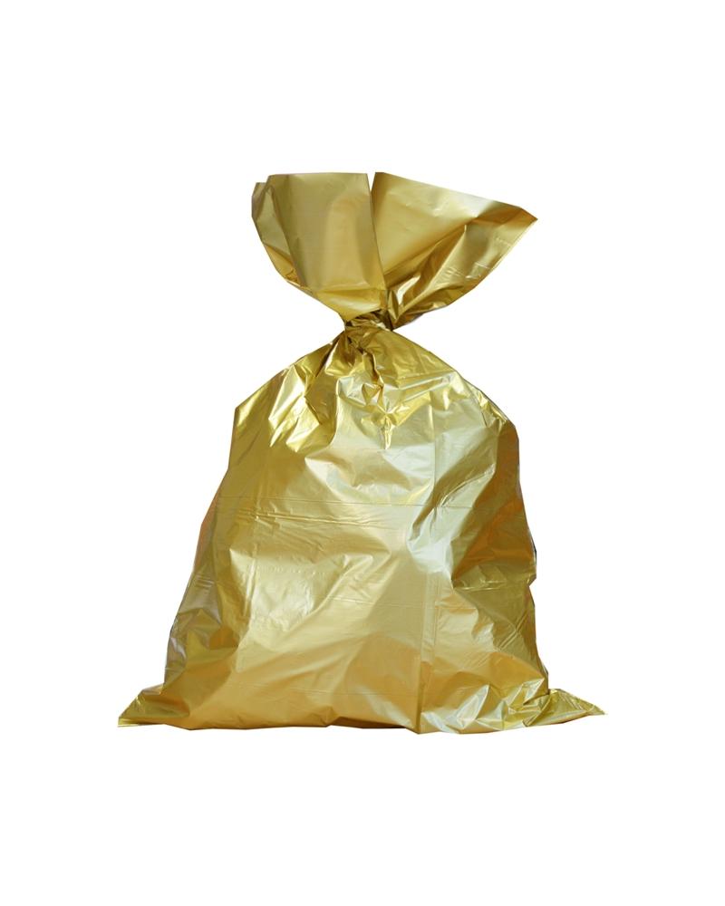 Saco Metalizado Dourado c/Revestimento Interno - Dourado - 32x50cm - ASC0014