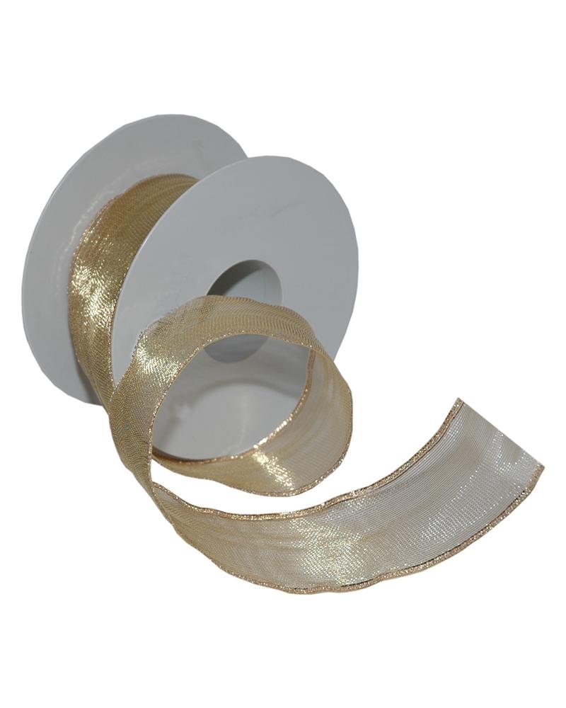 Fita Tecido Aramada 417 Dourado 50mmx25mts - Dourado - 50mmx25mts - FT5159