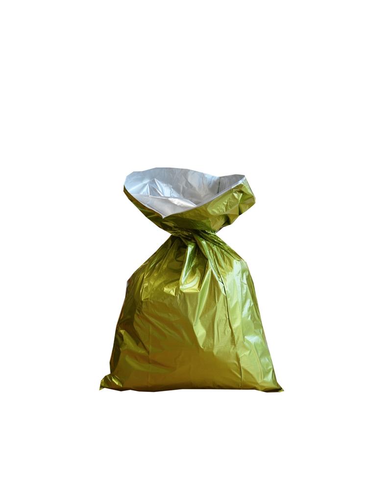Saco Metalizado Verde c/Revestimento Interno - Verde - 25X40cm - ASC0019