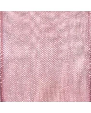 Rolo Fita Organza Aramada Rosa - Rosa - 40mmx20mts - FT5178