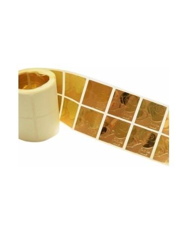 Rolo Etiquetas (c/500) c/ Rosa Dourada Feliz Dia Mãe 3x3cm - Dourado - 3x3cm - ET0443