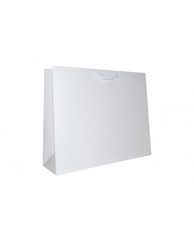 Saco Prestige Dupla Face Branco/Kraft c/Fita - Branco - 42+12x34 - SC3331