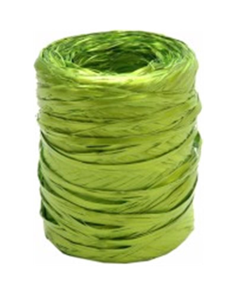 Rolo Rafia Metalizada Verde Alface 15mmx200mts - Verde - 15mmx200mts - FT3905