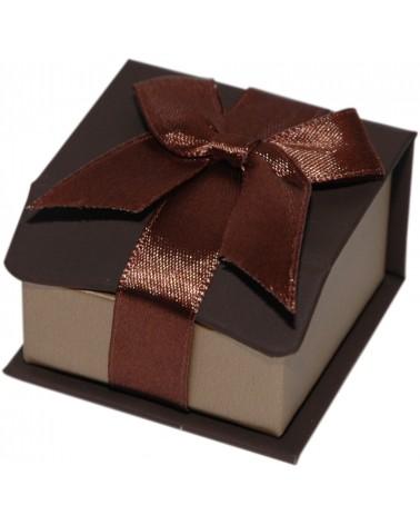 Caixa Linha Gold Chocolate p/ Brincos - Castanho - 4.7x4.7x3 - EO0647