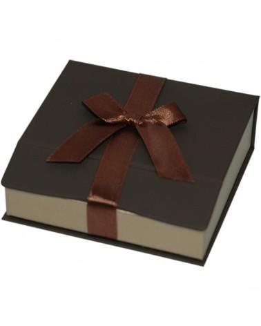 Caixa Linha Gold Chocolate p/ Pendentes - Castanho - 9x8.7x3cm - EO0650