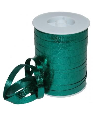 Rolo Fita Metalizada Gofrada Verde Escura 10mm - Verde - 10mmx250mts - FT5248