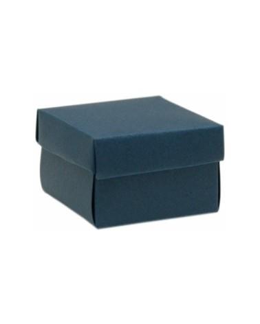 Caixa em Cartolina c/Tampa e Fundo CLA Azul 5.5x5.5x3.5cm - Azul - 55x55x35mm - CX0643