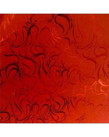 Papel Dupla Face Vermelho c/Arabescos - Vermelho - 70x100cm - PP2797