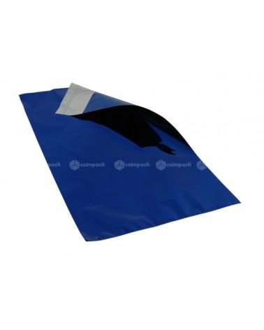 Saco c/Pala Autocolante Metalizado Fundo Azul - Azul - 25x40+5 - SC3362