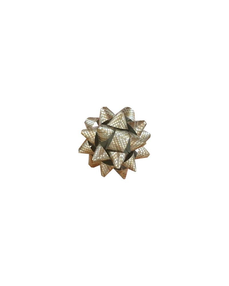 Laço Metalizado 68168 Dourado c/Autocolante 10mm - Dourado - 10mm - LÇ0668