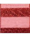 FT5217   Cinta Organza Con Listas Rojas