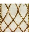 Fita Organza Xadrez Dourado - Dourado - 38mmx10y - FT5227